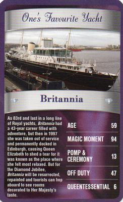 2012 Top Trumps The Diamond Jubilee One's Favourite Things #NNO Britannia Front