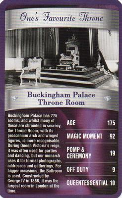 2012 Top Trumps The Diamond Jubilee One's Favourite Things #NNO Buckingham Palace Throne Room Front
