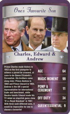 2012 Top Trumps The Diamond Jubilee One's Favourite Things #NNO Charles, Edward & Andrew Front