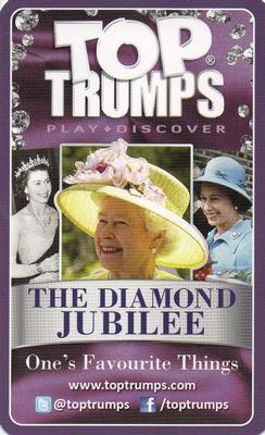 2012 Top Trumps The Diamond Jubilee One's Favourite Things #NNO Christmas Speeches Back