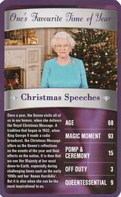 2012 Top Trumps The Diamond Jubilee One's Favourite Things #NNO Christmas Speeches Front