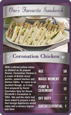 2012 Top Trumps The Diamond Jubilee One's Favourite Things #NNO Coronation Chicken Front