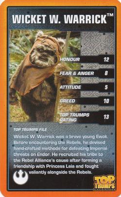WICKET Force Attax Movie Cards 3 25 Die Allianz Ewok