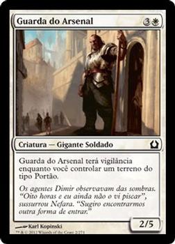 2012 Magic the Gathering Return to Ravnica Portuguese #2 Guarda do Arsenal Front