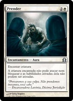 2012 Magic the Gathering Return to Ravnica Portuguese #3 Prender Front