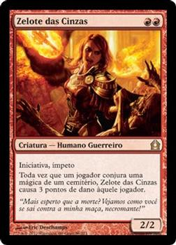 2012 Magic the Gathering Return to Ravnica Portuguese #86 Zelote das Cinzas Front