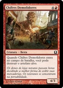 2012 Magic the Gathering Return to Ravnica Portuguese #87 Chifres Demolidores Front
