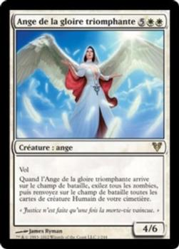 2012 Magic the Gathering Avacyn Restored French #1 Ange de la gloire triomphante Front