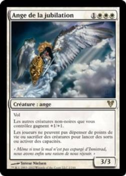 2012 Magic the Gathering Avacyn Restored French #2 Ange de la jubilation Front