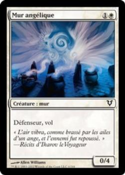 2012 Magic the Gathering Avacyn Restored French #4 Mur angélique Front
