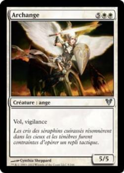 2012 Magic the Gathering Avacyn Restored French #5 Archange Front