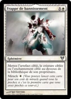 2012 Magic the Gathering Avacyn Restored French #7 Frappe de bannissement Front
