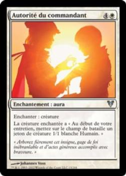 2012 Magic the Gathering Avacyn Restored French #13 Autorité du commandant Front
