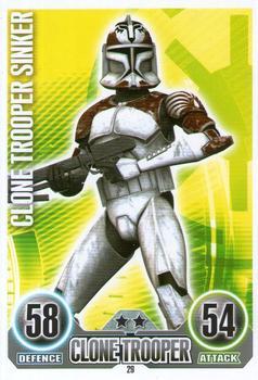 Star Wars Force Attax Series 3 Card #50 Clone Trooper Sinker