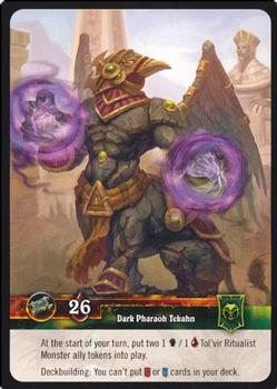 2012 Cryptozoic World of Warcraft Tomb of the Forgotten #1 Dark Pharaoh Tekahn Back