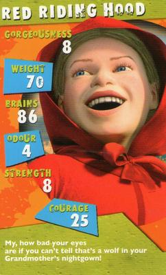 2004 Top Trumps Specials Shrek 2 Nno Red Riding Hood Trading Card Database