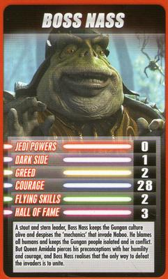 2012 Top Trumps Star Wars Episode 1 #NNO Boss Nass Front