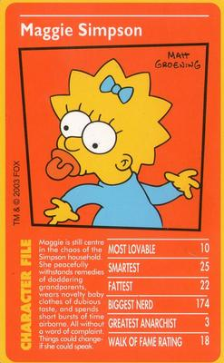 The Simpsons TOP TRUMPS 2001