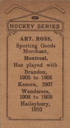 1910-11 Imperial Tobacco C56  8 Art Ross Back 3b3a1aff244b