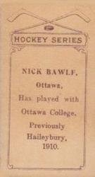 1910-11 Imperial Tobacco C56 #18 Nick Bawlf Back
