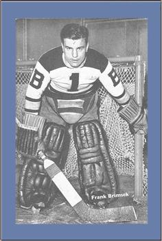 Frank Brimsek Gallery | The Trading Card Database