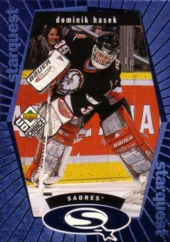 1998-99 UD Choice - StarQuest Blue #SQ4 Dominik Hasek Front