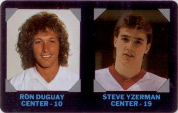 1985-86 7-Eleven Credit Cards #5 Ron Duguay /Steve Yzerman Front