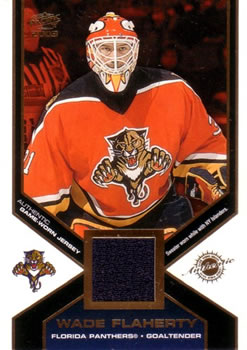 2002-03 Pacific - Jerseys #20 Wade Flaherty Front