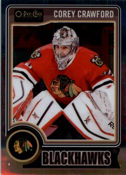 2014-15 O-Pee-Chee Platinum #99 Corey Crawford Front