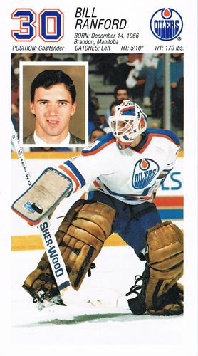 1988-89 Edmonton Oilers #NNO Bill Ranford Front