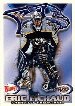 1998-99  Wendy's/Pacific Nashville Predators #9 Eric Fichaud Front