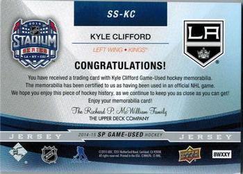 2014-15 SP Game Used - Stadium Series Materials Jerseys  SS-KC Kyle 52f8339ab
