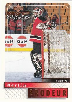 1999-00 Upper Deck MVP Stanley Cup #104 Martin Brodeur Front