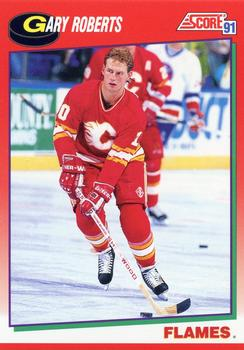 1991-92 Score Canadian English #199 Gary Roberts Front