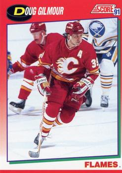 1991-92 Score Canadian English #218 Doug Gilmour Front