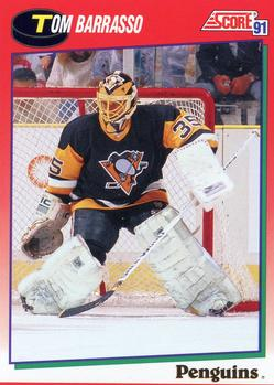 1991-92 Score Canadian English #225 Tom Barrasso Front