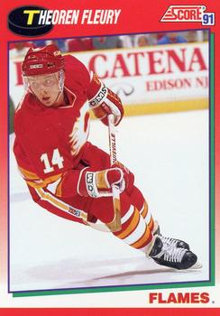 1991-92 Score Canadian English #226 Theo Fleury Front