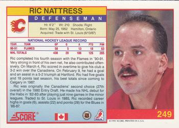 1991-92 Score Canadian English #249 Ric Nattress Back