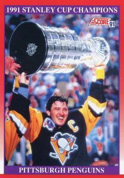 1991-92 Score Canadian English #315 1991 Stanley Cup Champion Front