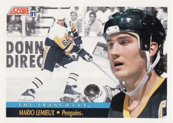 1991-92 Score Canadian English #365 Mario Lemieux Front