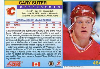 1991-92 Score Canadian English #464 Gary Suter Back