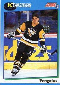1991-92 Score Canadian English #468 Kevin Stevens Front