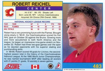1991-92 Score Canadian English #483 Robert Reichel Back