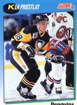 1991-92 Score Canadian English #658 Ken Priestlay Front