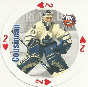 1998-99 Bicycle NHL Hockey Aces Goalies #2ofH Marcel Cousineau Front