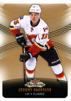 2015-16 Fleer Showcase #34 Johnny Gaudreau Front