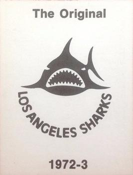 1972-73 Los Angeles Sharks WHA #NNO Bart Crashley Back