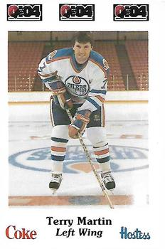 1984-85 Nova Scotia Oilers AHL Police #24 Terry Martin Front