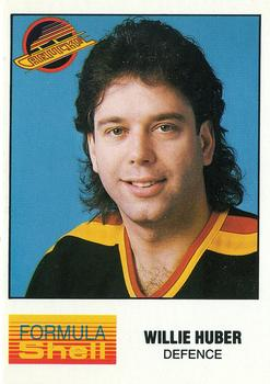 1987-88 Shell Oil Vancouver Canucks #NNO Willie Huber Front