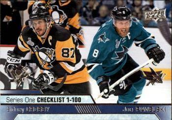 2016-17 Upper Deck #199 Sidney Crosby / Joe Pavelski Front